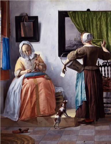 Women Reading a Letter (Η γυναίκα που διαβάζει το γράμμα), Gabriel Metsu, 1664-66, National Gallery of Ireland